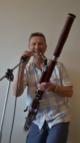 Ole Schouenborg underviser i fagot i Odense Musikskole