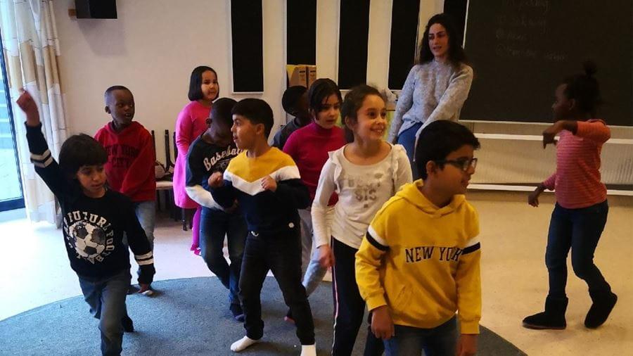 Børn danser i Kulturskolen i Vollsmose
