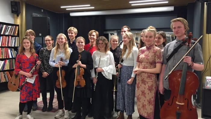 Foto af elever fra klassisk talentlinje